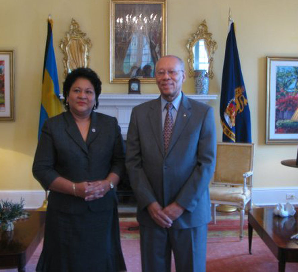Governor General of The Bahamas and Juliet Mallet Phillip