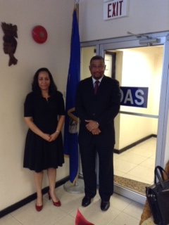 Jamaica's New Permanent Representative to the  OAS, H.E.Ralph Thomas  pays Courtesy Call on the OAS Country Representative.