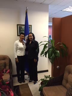 Courtesy call by Jamaica's AMBASSADOR-DESIGNATE TO THE US, Ambassador Audrey Marks