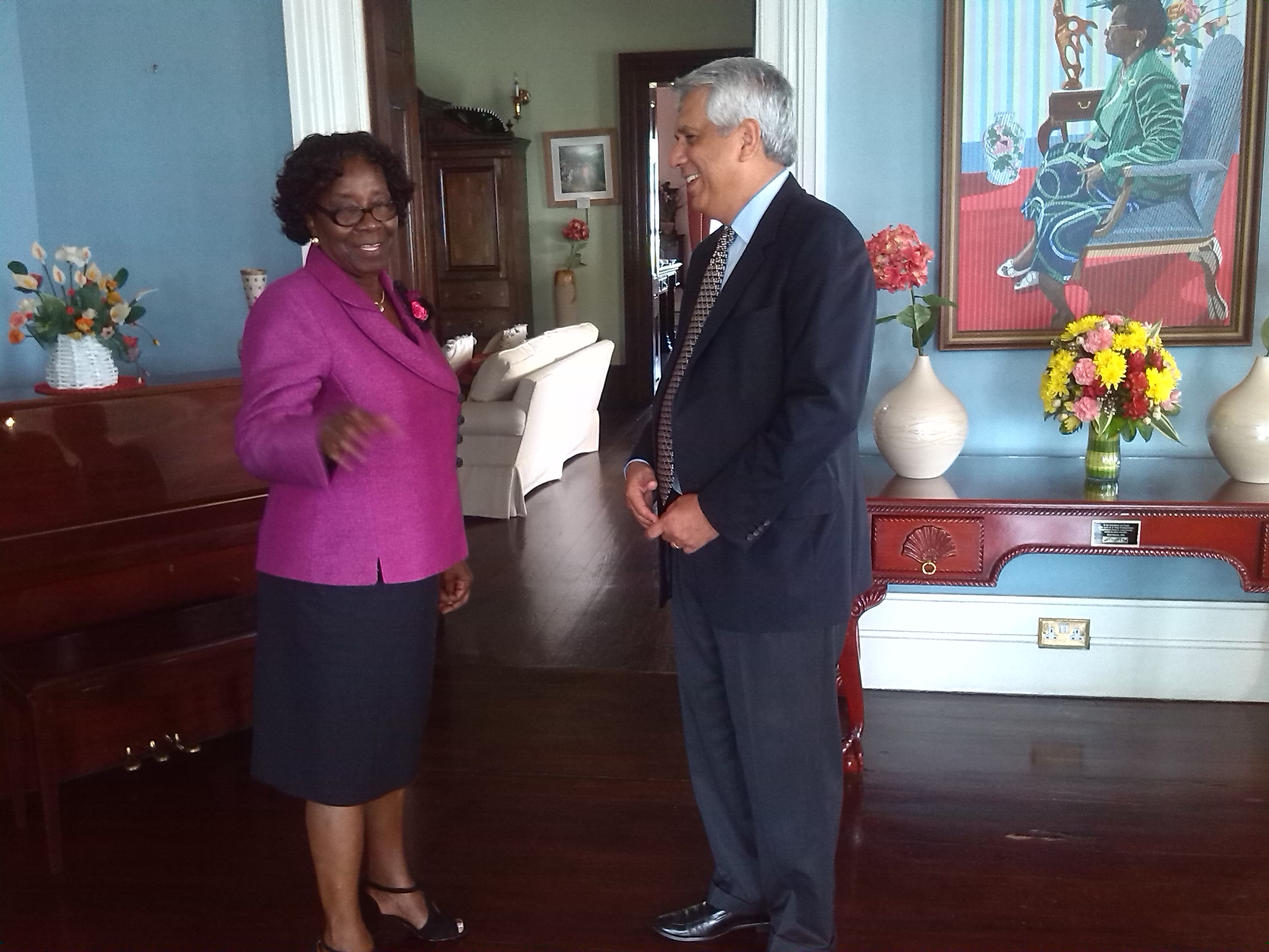 OAS Representative Luis A Rodriguez Call on Governor General