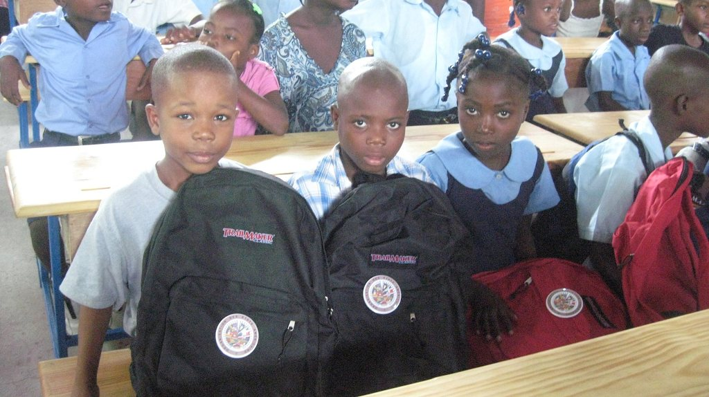 """Backpacks for Haiti's Children Initiative"", Staff and Volunteers of the Organization's Haiti Office distributed over 400 backpacks this week to schools of the Port-au-Prince Area"