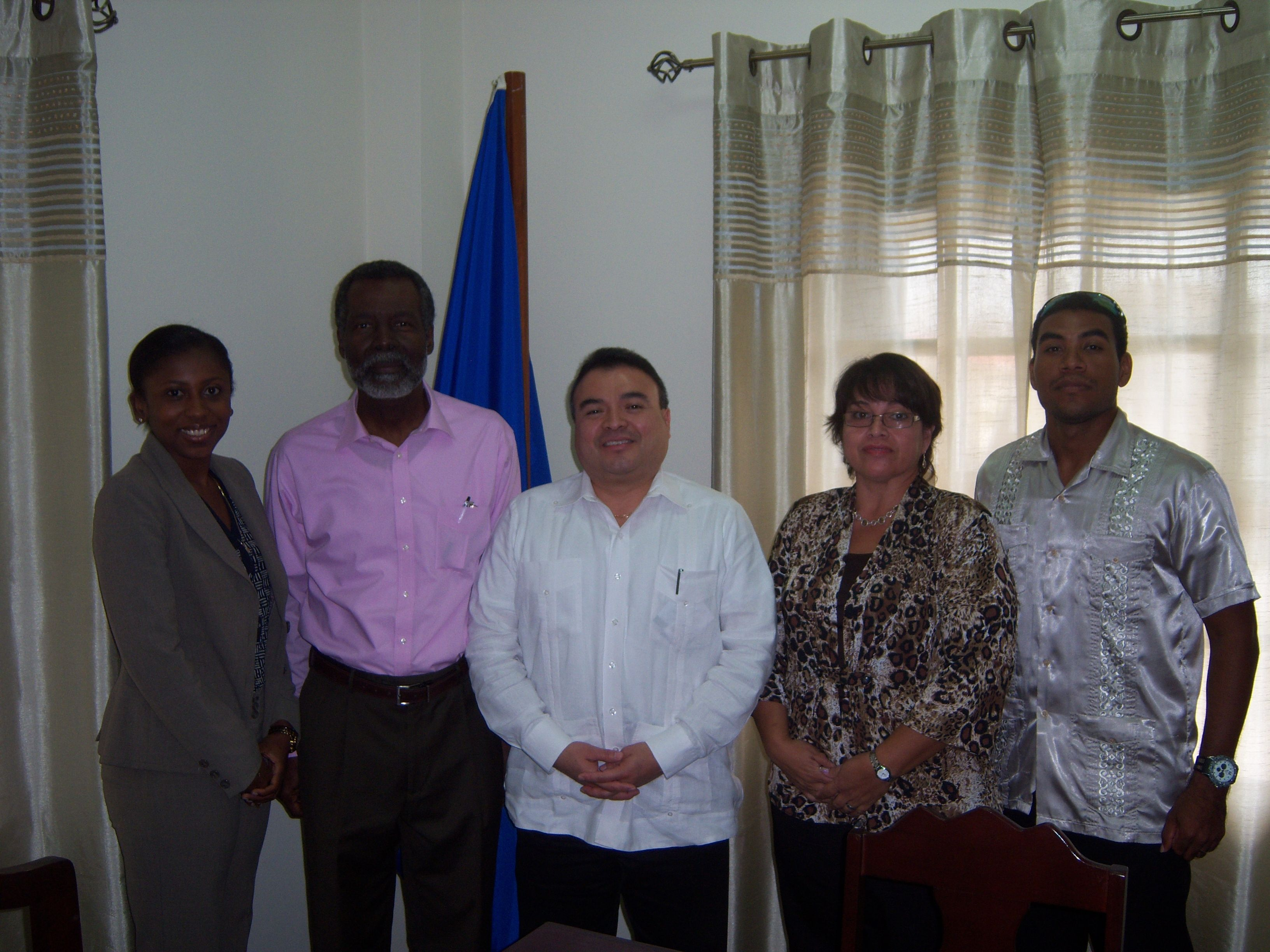 OAS Assistant Secretary General H. E. Nestor Mendez Visits OAS Country Office in Belize