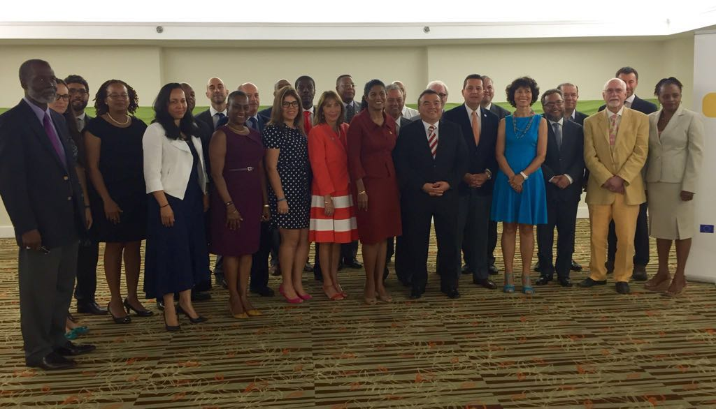 OAS Representatives with ASG, Secretary for Strengthening Democracy, some other OAS colleagues in political affairs and EU Charge in Barbados