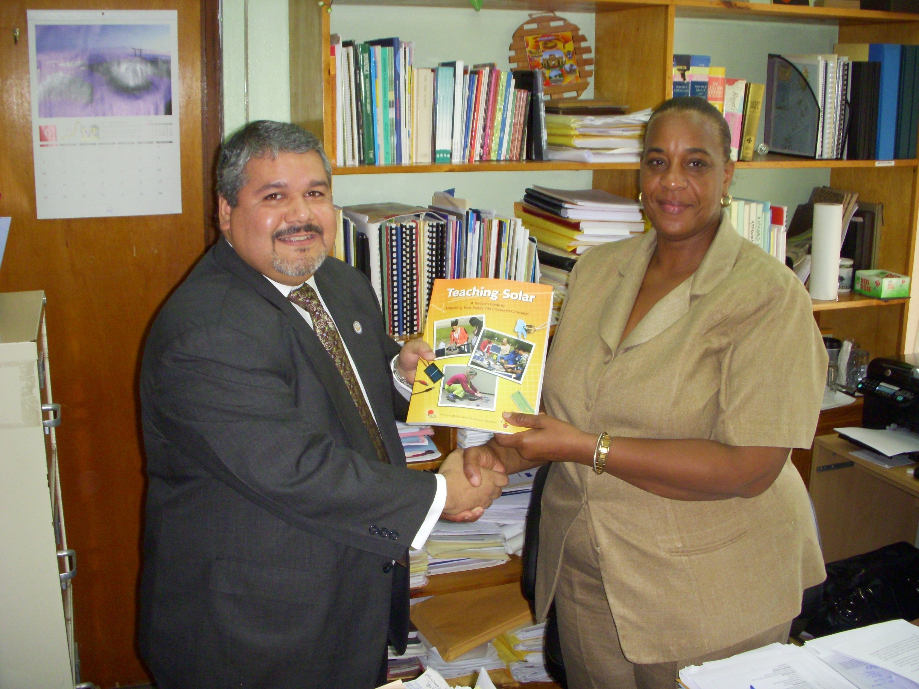 OAS hands over Learning Materials to the Ministry of Education