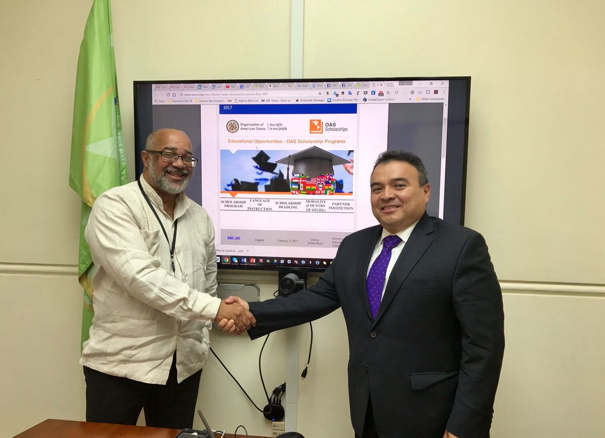 OAS-ASG Mendez meets the OECS Commision Director-General