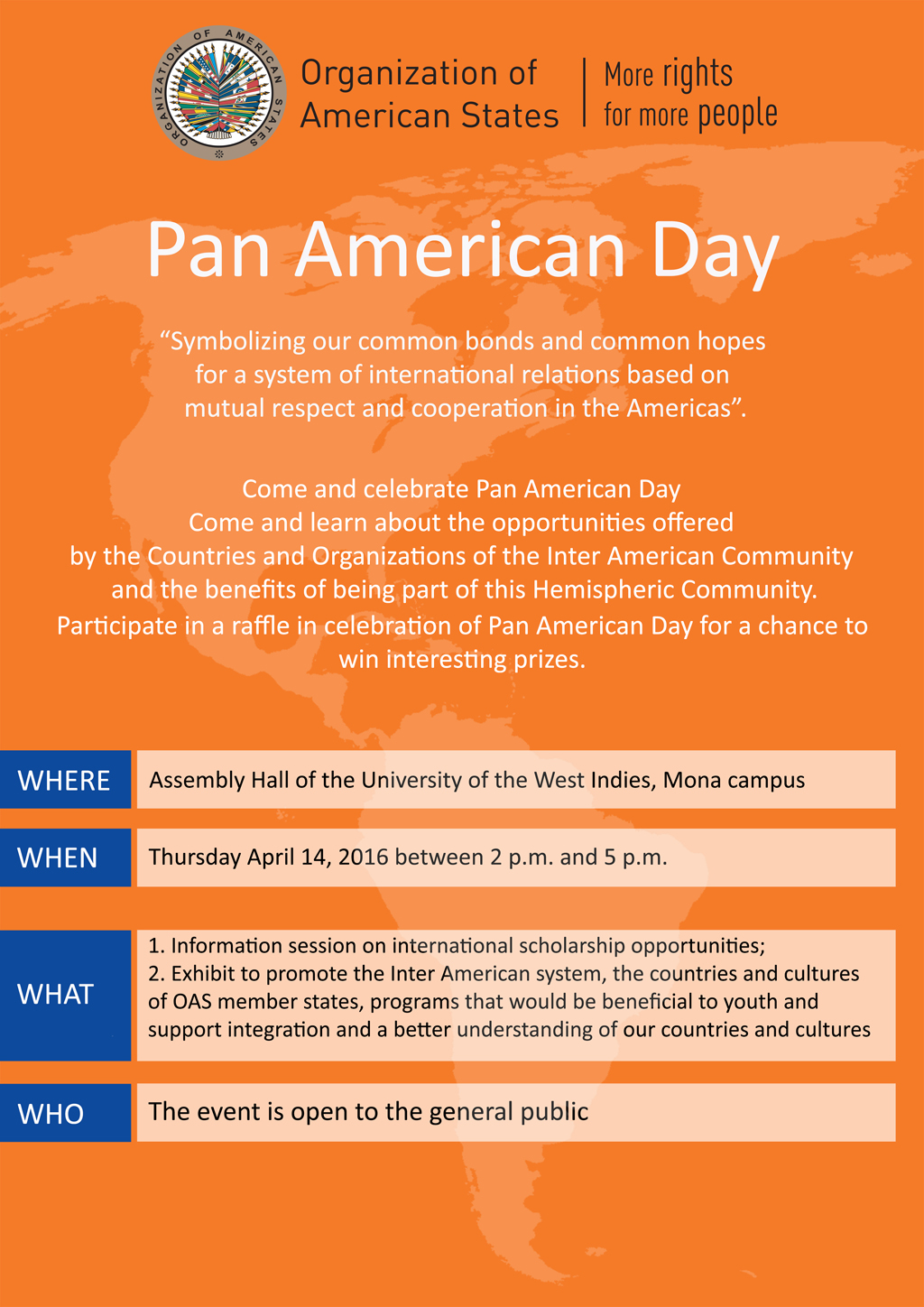 Pan American Day Flyer