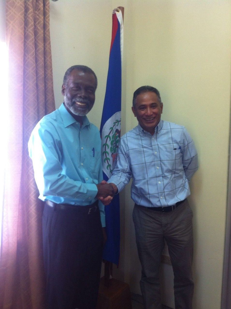 OAS Representative Meets with Leader of the People's United Party (PUP)