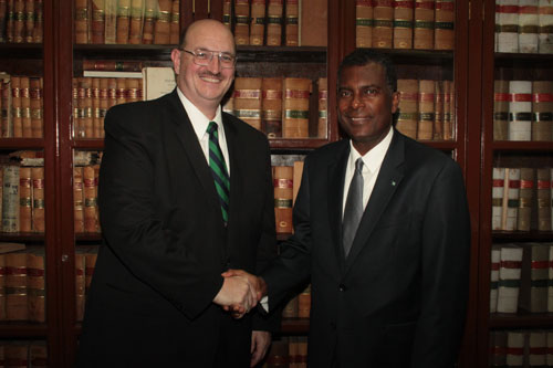 Minister of Immigration, the Honorable Fred Mitchell, held a meeting with the United States Chargé d'Affaires, John Dinkelman in the House of Assembly meeting room on June 13, 2012.  It was the first official meeting between the United States' top representative in The Bahamas and the new Administration.  The meeting provided an opportunity to discuss key bilateral issues facing the United States of America and the Commonwealtchell