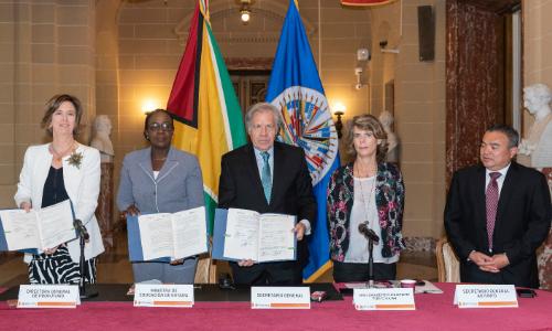 OEA colaborará con ProFuturo en educación interactiva en Guyana y con Telefónica en disminuir la brecha digital en mujeres y zonas rurales