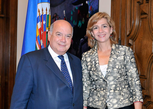OAS Secretary General Meets with the Infanta Cristina of Spain