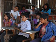 The delegation visits a school in an indigenous community in Paraguay