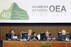 Speech by the IACHR Chair, Felipe González, to the OAS General Assembly during its 40th Period of Sessions