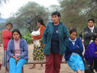 Women of the Guaraní indigenous community of Itacuatía, Alto Parapetí, Santa Cruz, Bolivia, offer testimony to the IACHR on June 11, 2008