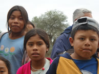 Guaraní indigenous children at a school located on an hacienda in the Bolivian Chaco.