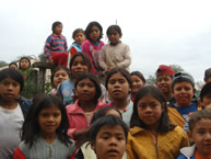 Guaraní indigenous children at a school located on an estate (hacienda) in the Bolivian Chaco