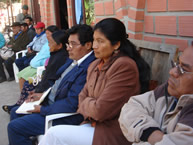 On June 12, 2008, members of the Guaraní indigenous people of Bolivia attend a meeting the APG held with the IACHR