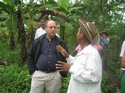 Comissioner Víctor Abramovich turing the visit to the Afro-Colombian communities in the Chocó Department