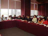 The IACHR delegation in a meeting with nongovernmental organizations in Mexico City, on August 25, 2005