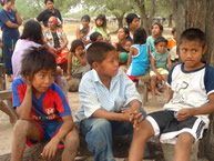 Children from the Yakye Axa community of the Enxet, Sanapaná, and Angaité peoples, in the Paraguayan Chaco