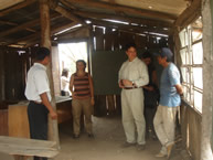 The Rapporteur on the Rights of Indigenous Peoples, Paolo Carozza, visits the Yakye Axa community's only school