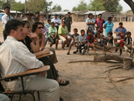 The IACHR met with the Yakye Axa community on September 3, 2007, in the Paraguayan Chaco