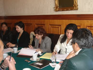 The IACHR delegation at Bolivia's Foreign Ministry, June 9, 2008