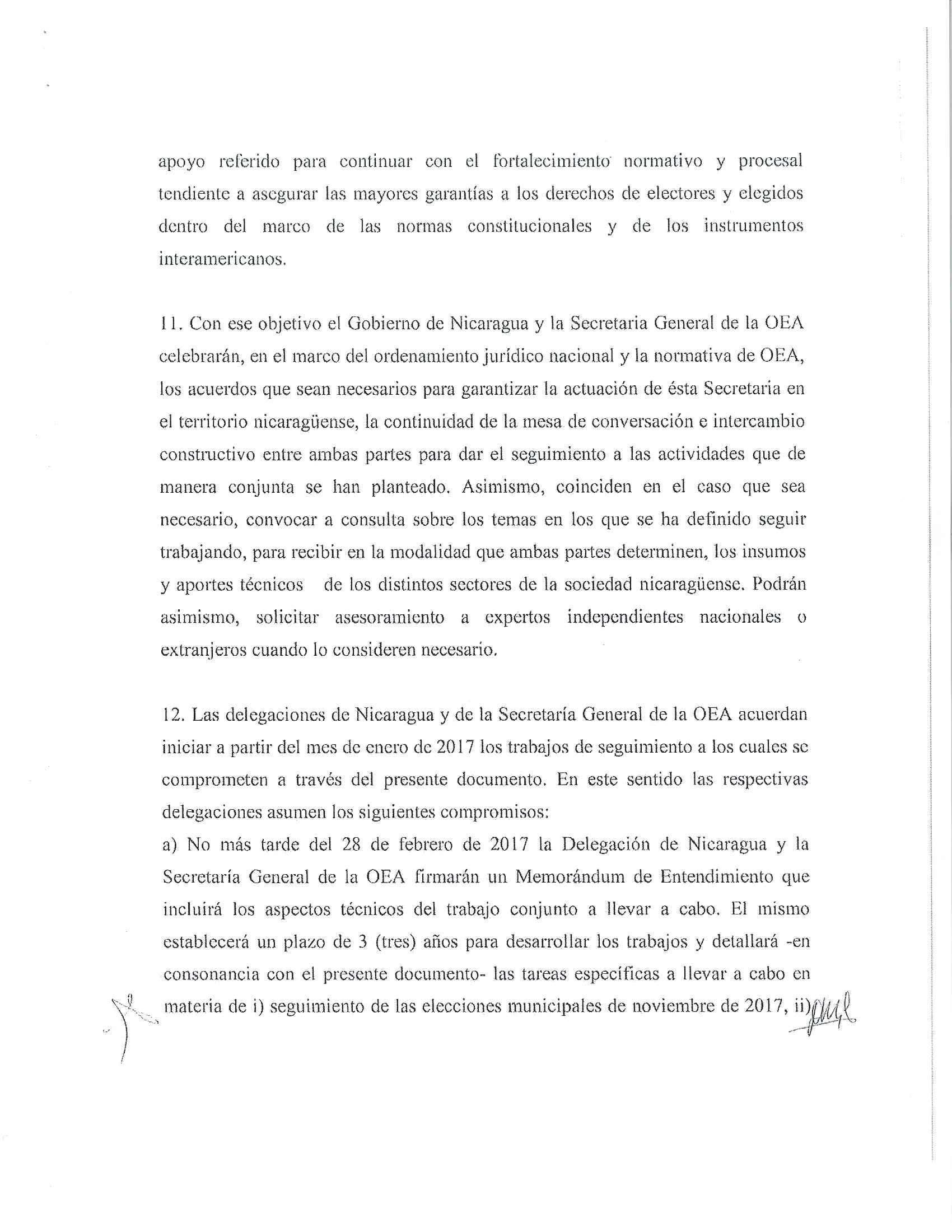 Acuerdo Nicaragua OEA 2017 5/6