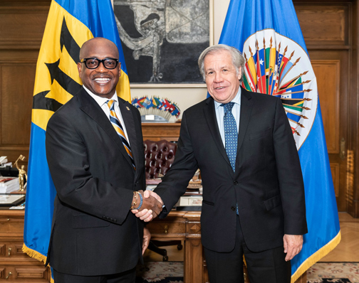 New Ambassador of Barbados to the OAS Presents Credentials