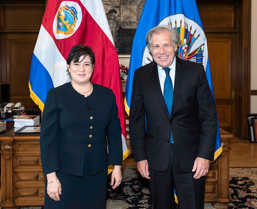 New Representative of Costa Rica to the OAS Presents Credentials to Secretary General Almagro