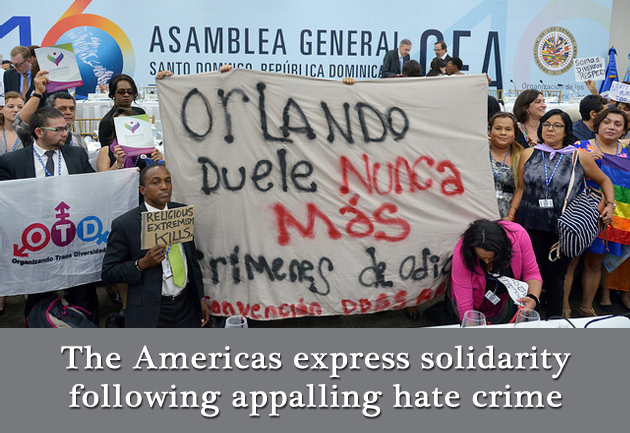 The Americas express solidarity following appalling hate crime