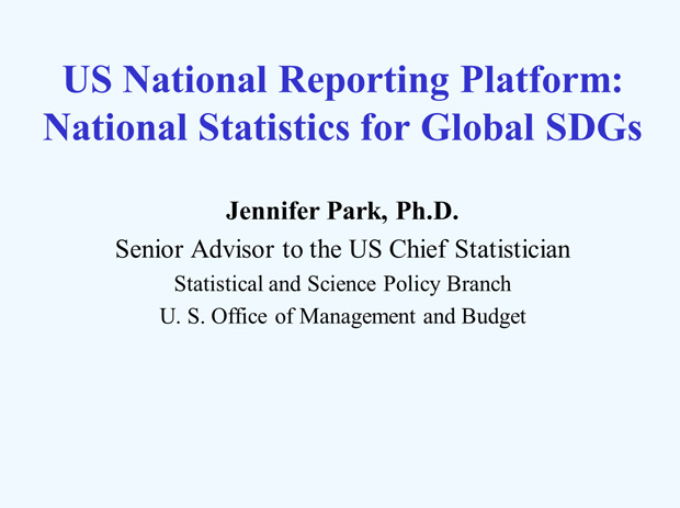 US National Reporting Platform: National Statistics for Global SDGS slide1