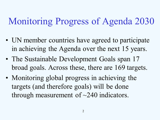 US National Reporting Platform: National Statistics for Global SDGS slide2