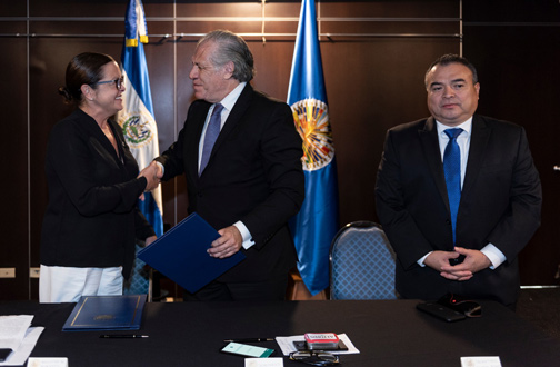 OAS and El Salvador to Collaborate in the Training of Vulnerable Populations