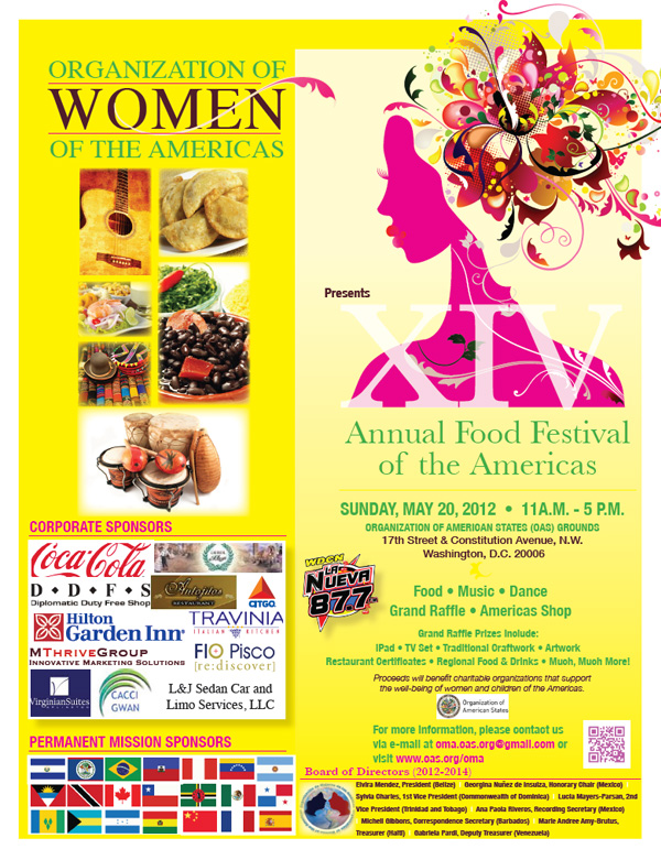 2012 food festival of the americas flyer the food festival is an event ...