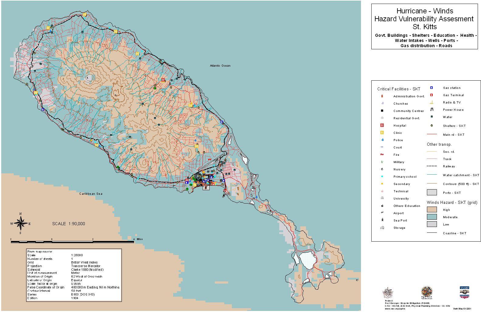 PGDM Vulnerability Assessment Page: St. Kitts/Nevis