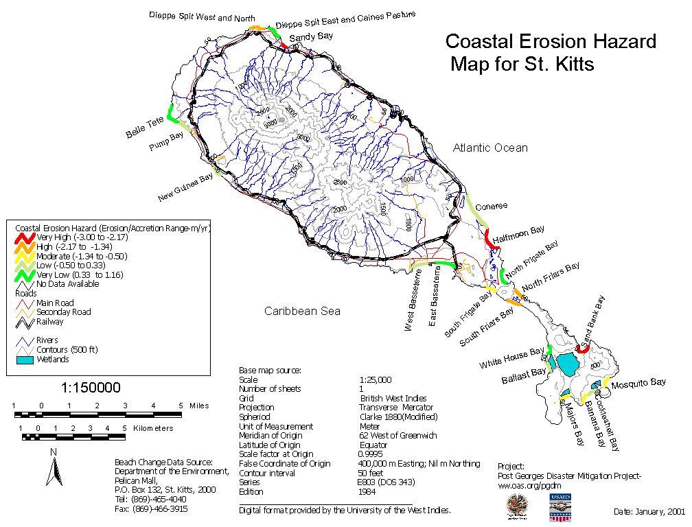 PGDM Hazard Assessment of Beach Erosion St Kitts and Nevis