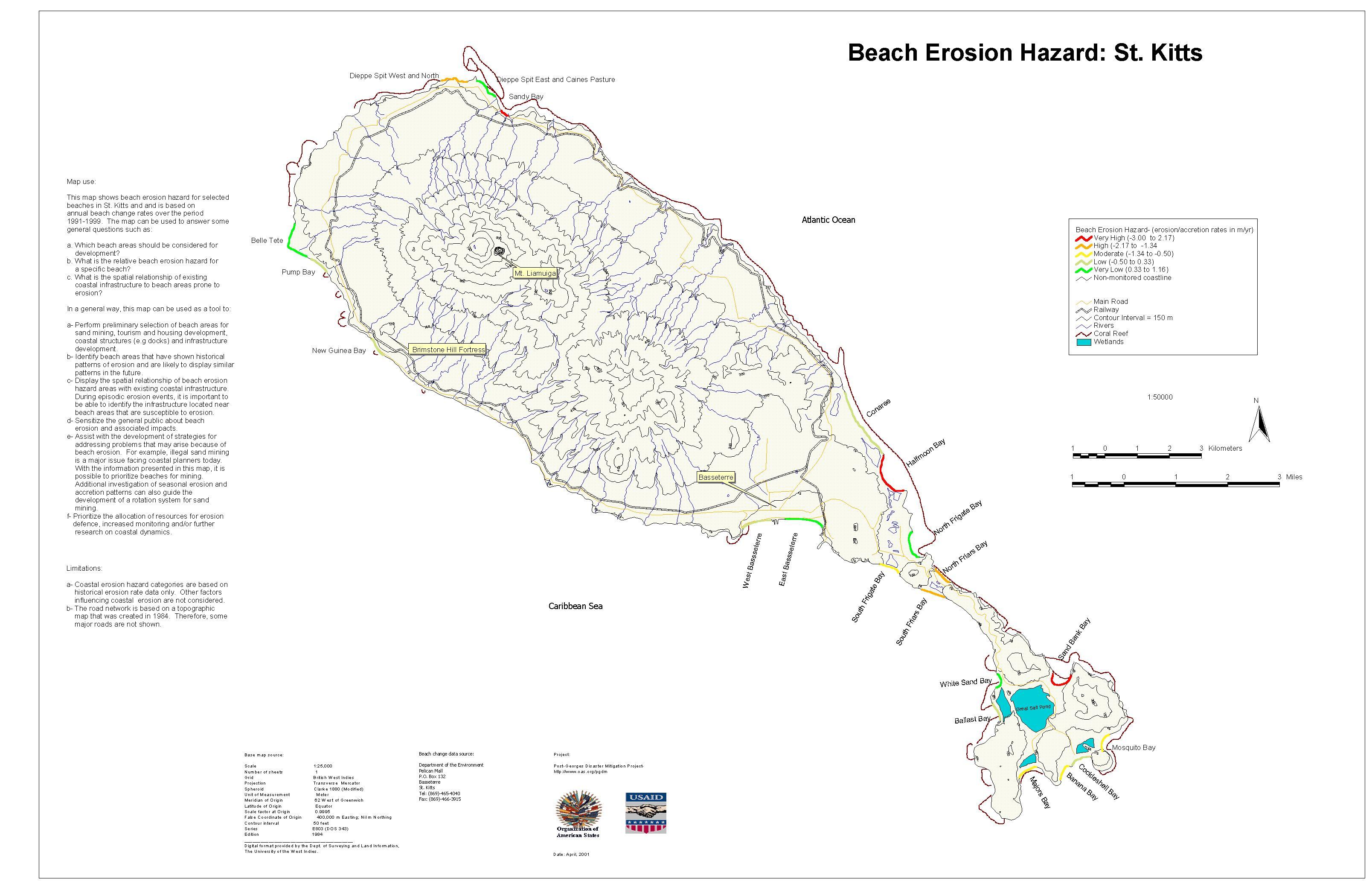 PGDM Beach Erosion Hazard Map