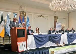 La Delegacin De OEA Encabezada Por El Representante Del Secretario General Para Asuntos Belize Guatemala Washington Abdala Asisti A Un