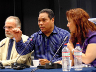 IACHR Chair, José de Jesus Orozco; Professor Eduardo Bonilla Silva; and Commmissioner Rose Marie Antoine, Rapporteur on the Rights of Afro-descendants, at the conference