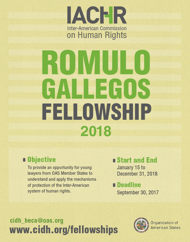 Romulo Gallegos Fellowship 2018