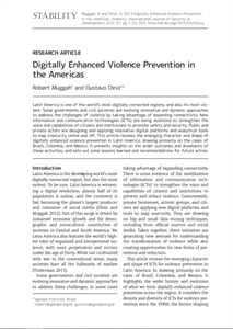Digitally Enhanced Violence Prevention in the Americas