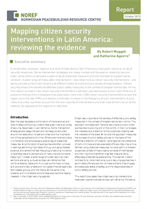 Mapping citizen security interventions in Latin America: reviewing the evidence