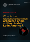 What is the relationship between organized crime and homicide in Latin America?