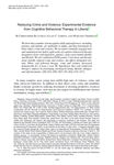 Reducing Crime and Violence: Experimental Evidence from Cognitive Behavioral Therapy in Liberia