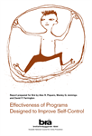 Effectiveness of Programs Designed to Improve Self-Control