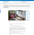 The COVID-19 Pandemic: Shocks to Education and Policy Responses/ World Bank