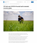 UN Sets Out COVID-19 Social and Economic Recovery Plan/ UN