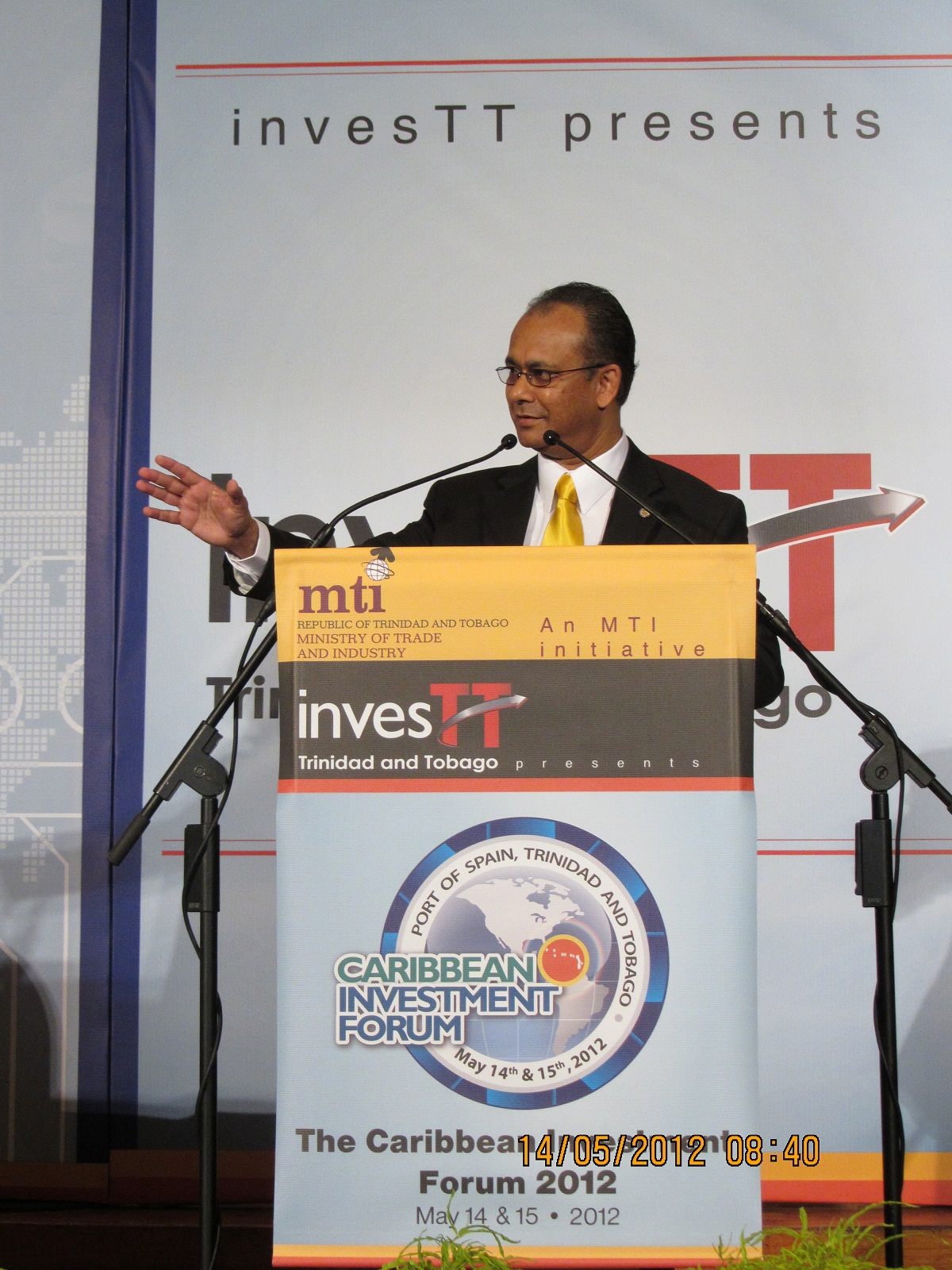 ASG Ramdin during his remarks at the Opening Ceremony of the Caribbean Investment Forum