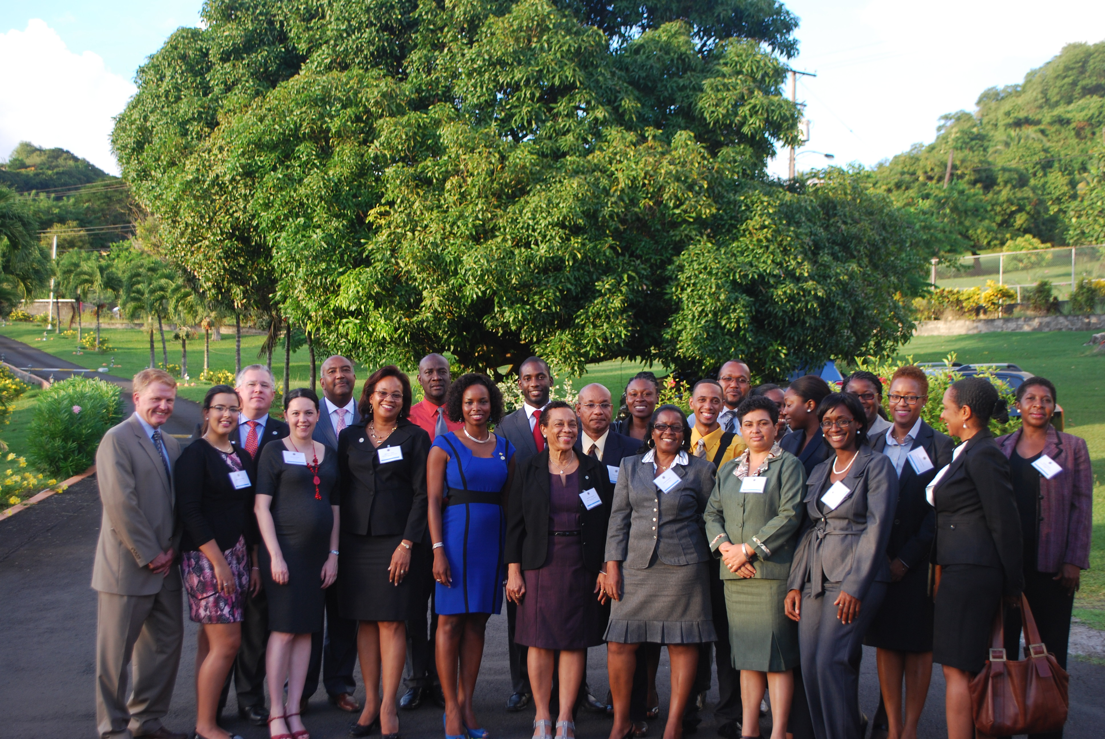 Participants in the OAS Regional Workshop on Civil Registries held in Villa, St. Vincent and the Grenadines in October 2013