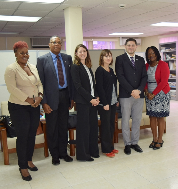 CCI Team and OAS Representative make an evaluation visit to the Criminal Justice Reach and Planning Unit, and meet with Director Ms. Cheryl Willoughby,  Oct 24 2017